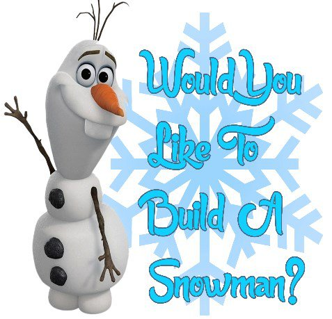 Olaf Would You Like To Build A Snowman Frozen Child's Large T-Shirt