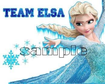 Frozen Team Elsa child's T-Shirt Size Large
