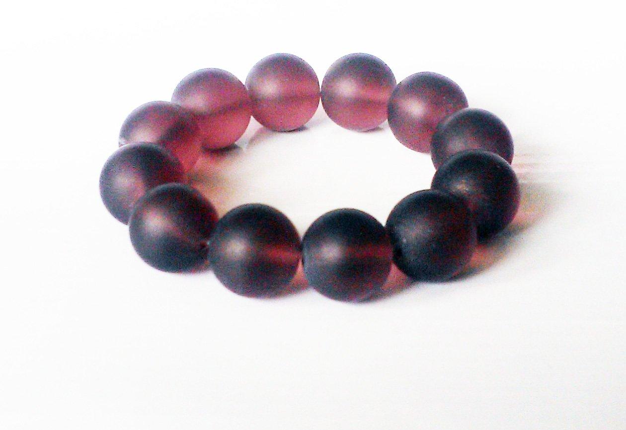 Purple Big Glass Stretchy Bracelet
