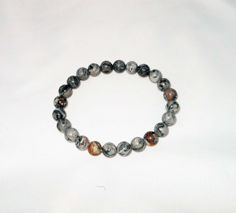 White Marble Stretchy Bracelet