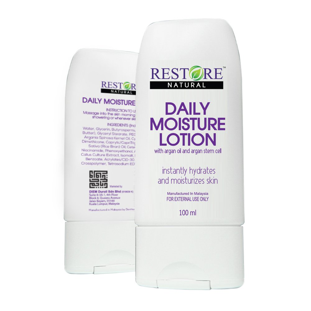 Argan Oil and Stem Cell Moisturizing Lotion - Restores Hydration