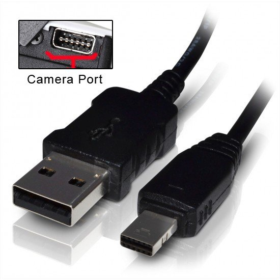 USB Data Cable Cord for Casio Exilim EX-TR150 TR100 TR200 ZR300 ZR20