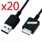 20 x USB Data Charger Cable Cord For Sony Walkman E A S Series 16GB 8GB 4GB MP3 Player