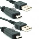 2x USB Data Cable Cord for Sony CyberShot DSC-W560 DSC-W570 DSC-WX5 VMC-MD3 3FT