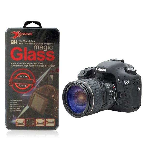 Real 9H Tempered Glass Screen Protector for Canon EOS 7D Digital SLR Camera