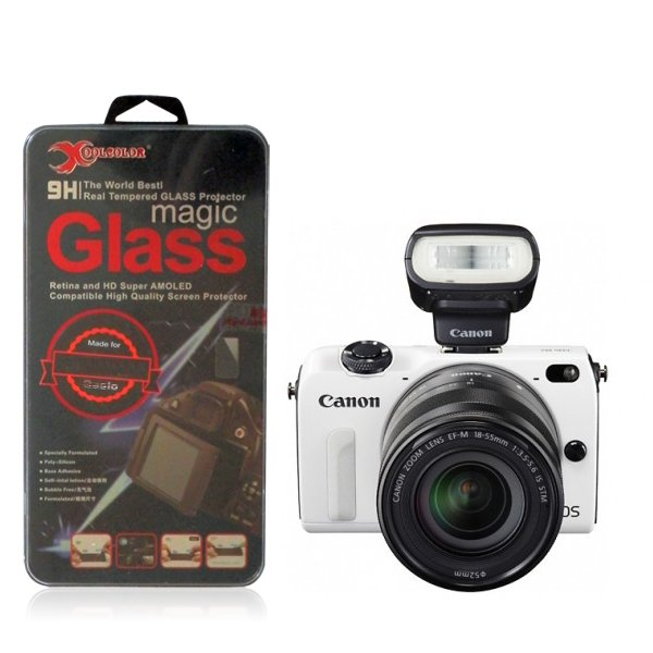 Real 9H Tempered Glass Screen Protector for Canon EOS M2 Digital SLR Camera