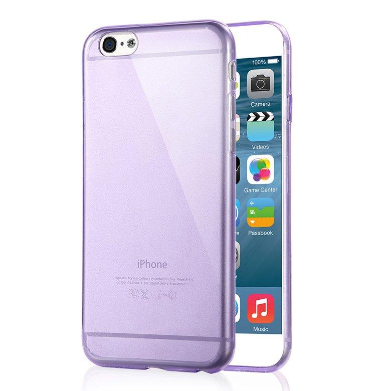 """2-Packs Premium SLIM TPU Skin Case Cover for Apple iPhone 6S Plus & 6 Plus 5.5"""" - Purple"""