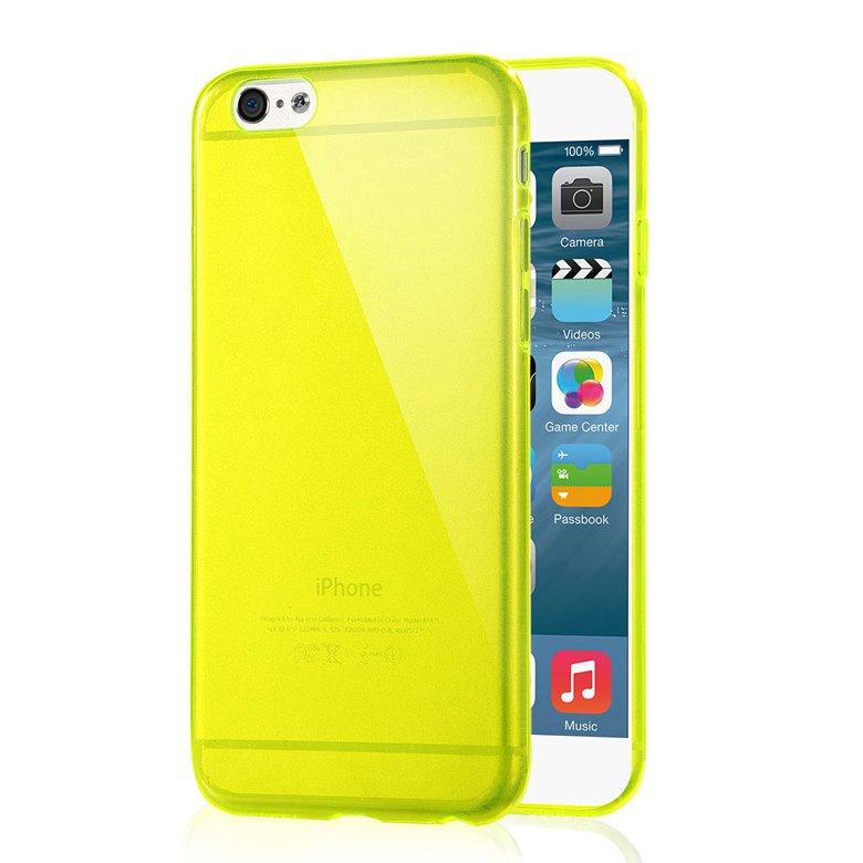 """2-Packs Premium SLIM TPU Skin Case Cover for Apple iPhone 6S Plus & 6 Plus 5.5"""" - Yellow"""