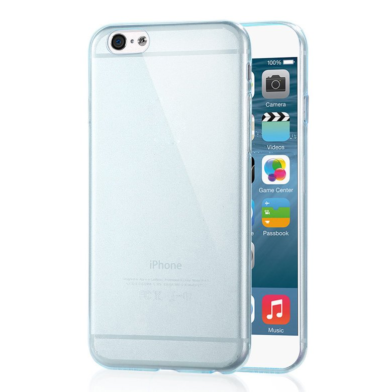 "2-Packs Premium SLIM TPU Skin Case Cover for Apple iPhone 6S Plus & 6 Plus 5.5"" - Light Blue"