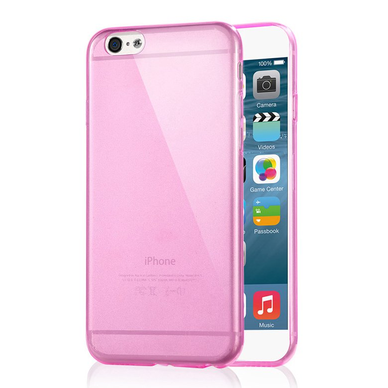 "2-Packs Premium SLIM TPU Skin Case Cover for Apple iPhone 6S Plus & 6 Plus 5.5"" - Rose"