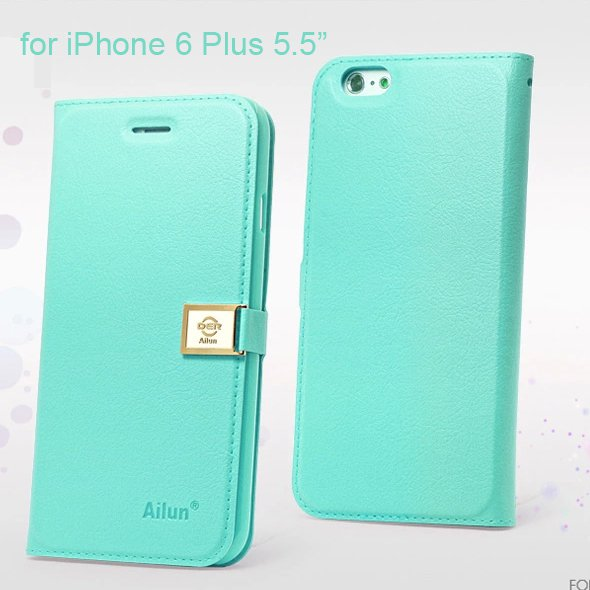 "Ailun Luxury Leather Wallet Case Protective Cover for Apple iPhone 6S Plus & 6 Plus 5.5"" - Tiffany"
