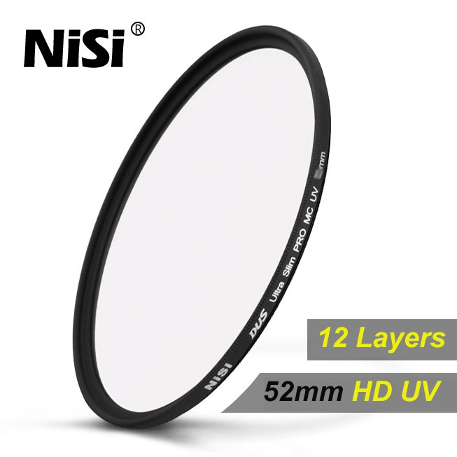NiSi® 52mm Slim Ultra Violet UV MC Multi Coated Lens Filter for Fujifilm X-Pro2 X-Pro1 XF 35mm Lens