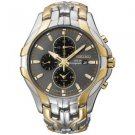 SEIKO Men's Solar Chronograph Gold Two-Tone Watch - SSC138