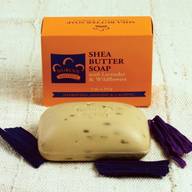 Nubian Shea Butter Soap With Lavender & Wildflowers - 5 Ounces