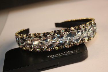 Fancy Clear Color Crystal Headband