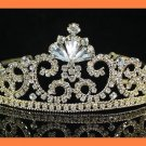 GOLD Victorian l and Crystal Tiara Headpiece