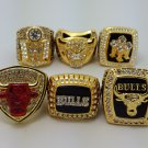 A set Chicago Bulls Basketball Championship ring replica size 10 US