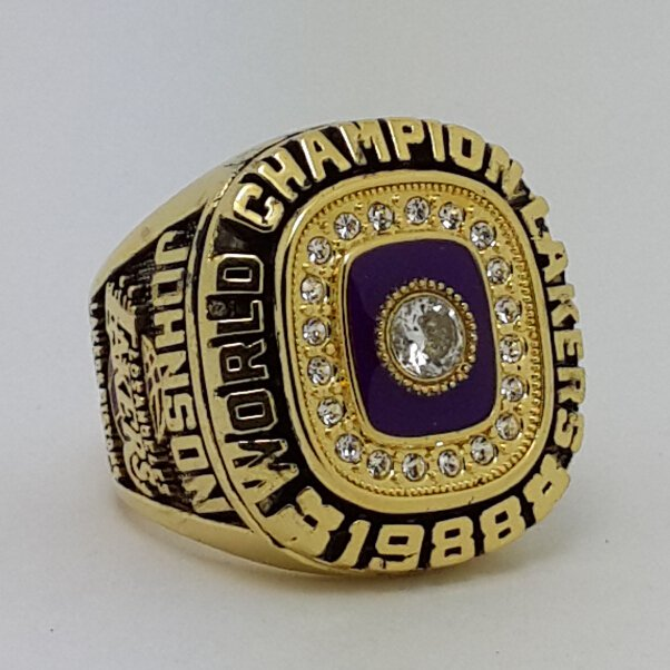 1988 Los Angeles Lakers ring Basketball Championship ring JOHNSON replica size 9-14 US
