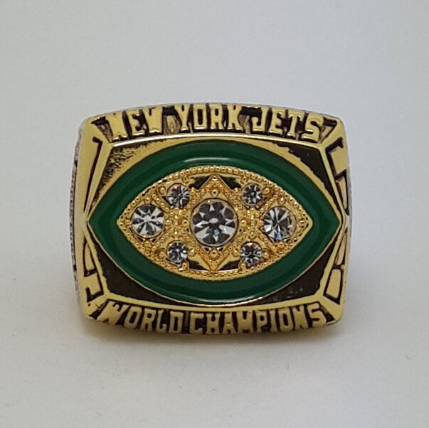 1968 New York Jets III super bowl championship ring size 11 US