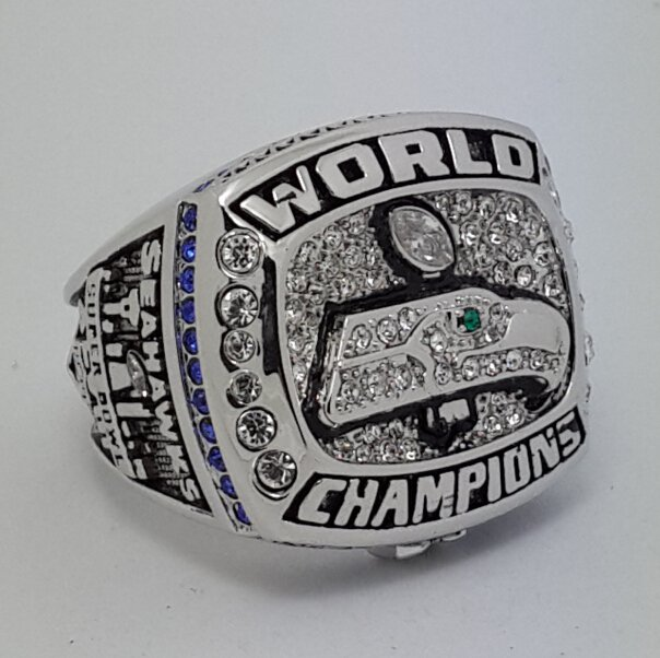 2013 Seattle Seahawks XLVIII super bowl championship ring size 10 US