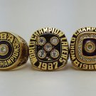 A set Los Angeles Lakers 1982 1987 1988 ring Basketball Championship ring JOHNSON size 10 US