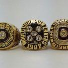 A set Los Angeles Lakers 1982 1987 1988 ring Basketball Championship ring JOHNSON size 10 US