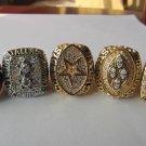 A Set Dallas Cowboys ring 1971 1977 1992 1993 1995 super bowl championship ring size 11 US