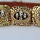 A Set San Francisco 49ers ring 1981 1984 1988 1989 1994 super bowl championship ring size 11 US
