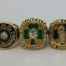 A Set Boston Celtics ring 1981 1984 1986 Basketball Championship ring replica size 10 US 3Pcs