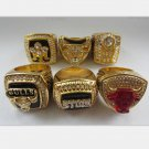 A SET Chicago Bulls ring JORDAN Dynasty Basketball Championship ring replica size 10 US 6pcs