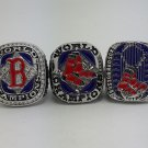 3PCS Boston Red Sox 2004 2007 2013 Baseball championship ring MLB ring size 11 US BACK SOLID