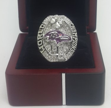 2012 Baltimore Ravens super bowl championship ring size 11 US with wooden box