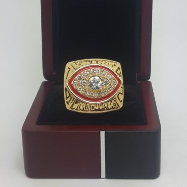 1982 Washington Redskins super bowl championship ring size 11 US with wooden box