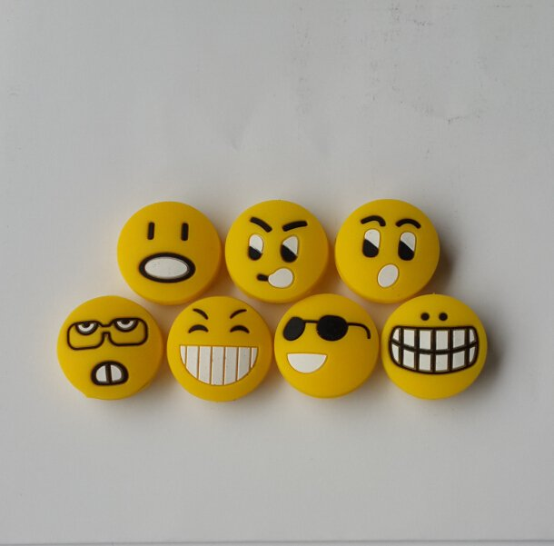 A set strange express smile tennis vibration dampener shock absorber 7pcs Nice Gift very nice