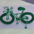 unique custom handmade gift wire bike green bicycle birthday presents