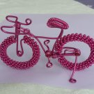 unique custom handmade gift wire bike Pink bicycle birthday prese
