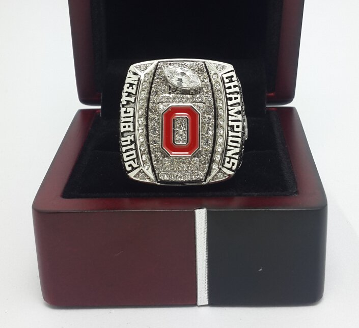 2014 2015 Big Ten Ohio State Buckeyes football Championship Ring NCAA size 9-13 US WITH WOODEN BOX