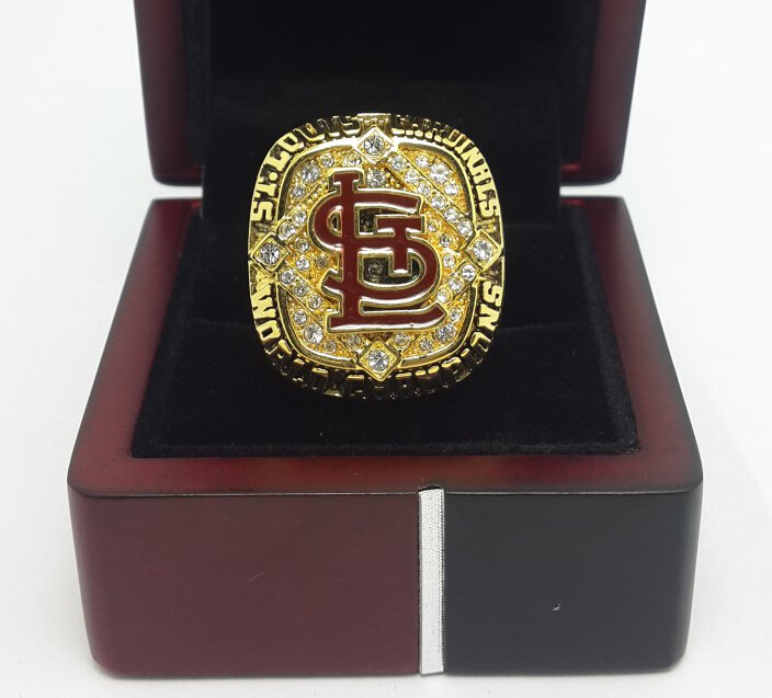 2006 St Louis Cardinals Baseball World series championship ring size 9-13 US with wooden box