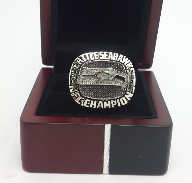 2014 Seattle Seahawks NFC National Football Championship ring size 9-13 US  with wooden box