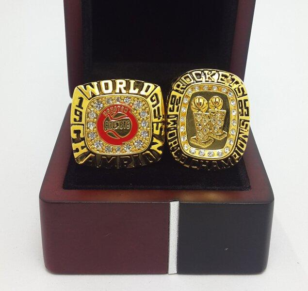 1994 1995 Houston Rockets Basketball championship ring NBA ring size 10 US Ola juwan with wooden box