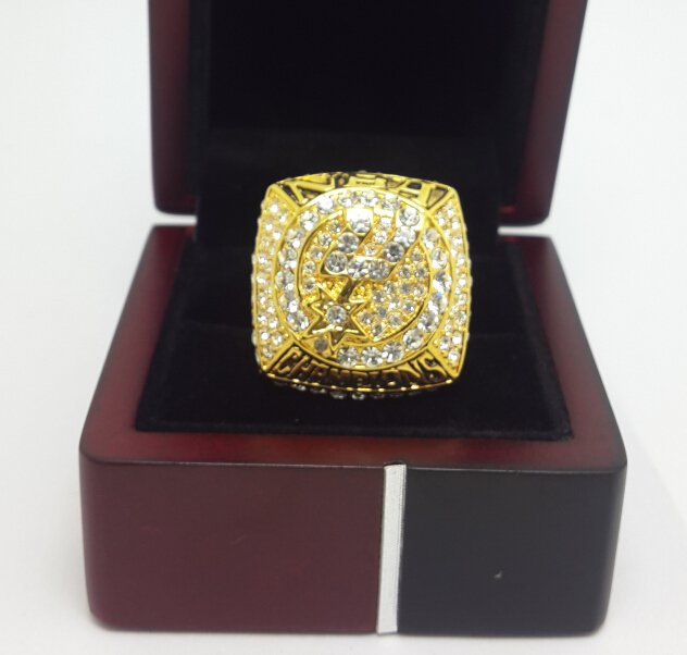 2007 San Antonio Spurs Basketball Championship ring replica size 10 US with wooden box