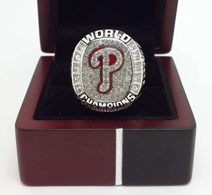 2008 Philadelphia Phillies Baseball HOWARD MLB championship ring size 9-14 US with wooden box