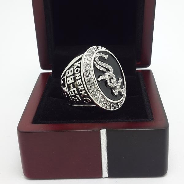 Chicago White Sox 2005 World Series Championship ring MLB Baseball with wooden box Back Solid