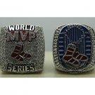 2013 Boston Red Sox + MVP ring Baseball championship ring MLB ring size 9-14 US 2 PCS Back Solid