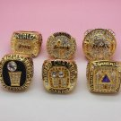 6 PCS Los Angeles Lakers 1985 2000 2001 2002 2009 2010 Basketball Championship ring size 10 US