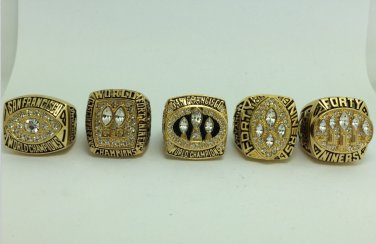San Francisco 49ers ring 1981 1984 1988 1989 1994 super bowl ring size 11
