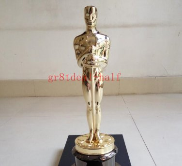 "13.5"" Oscar Award Trophy Statue 1:1 Oscars Prototype 24k Gold Plated"