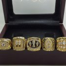 San Francisco 49ers 1981 1984 1988 1989 1994 super bowl rings size 8-14 with wooden case