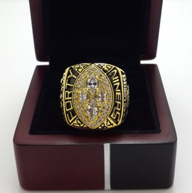 1989 San Francisco 49ers super bowl championship ring size 8-14 US with wooden box