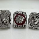 A Set 2010 2013 2015 Chicago Blackhawks Stanley Cup NHL Hockey championship rings size 11 US Solid